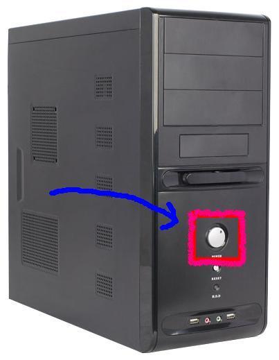 кнопка включения компьютера