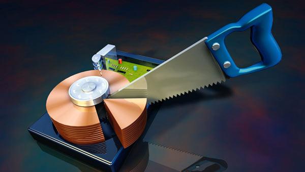 разбить диск на разделы