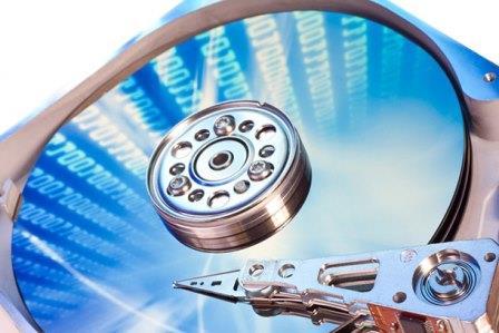 процесс восстановления диска