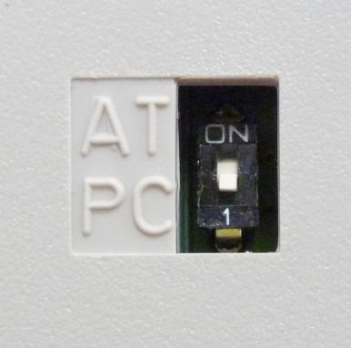 Положение переключателя XT/AT