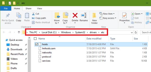 файл хост в виндовс 10