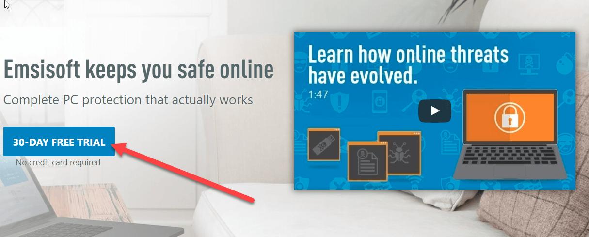 удалить майнинг вирус с помощью Emsisoft Emergency Kit