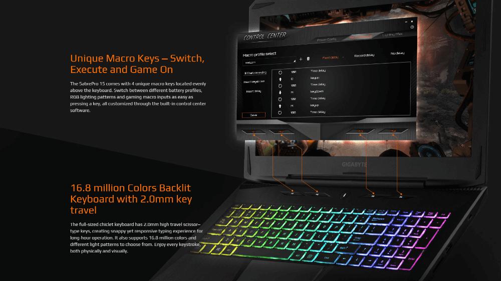 Gigabyte Sabre Pro клавиатура