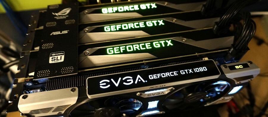 SLI технологияGeForce GTX 1080