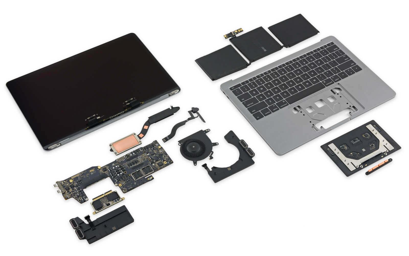 MacBook Pro 2017 изнутри