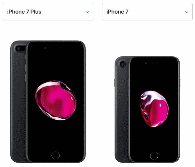 Отличие айфон 7 от 7 плюс