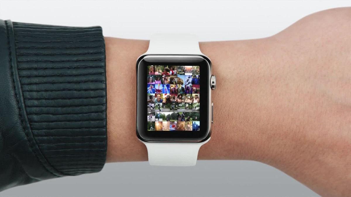 Просмотр фотографий Apple Watch 4 через