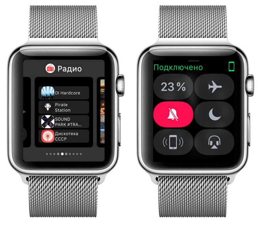 Панель быстрого доступа Apple Watch 4