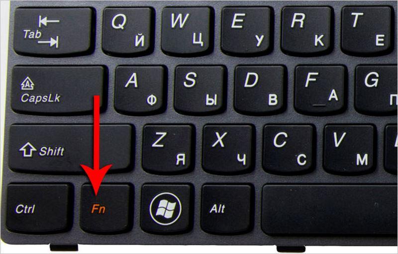 Не работает кнопка fn на ноутбуке