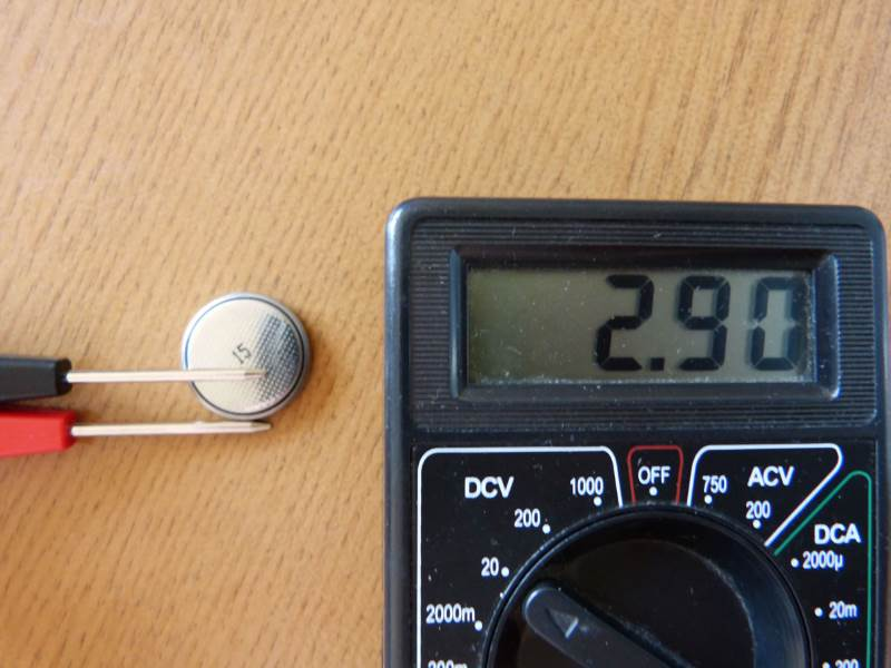 Проверка заряда батареи CMOS