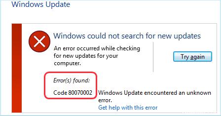 Исправить Windows не удается найти новые обновления Ошибка ...