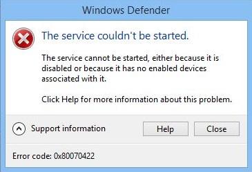 Как исправить ошибку 0x80070422 на Windows 7/8/8.1/10