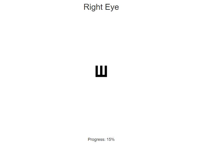 Тестирование зрения
